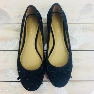 Ann Taylor Size 6M Jessa Suede Block Heel Flats